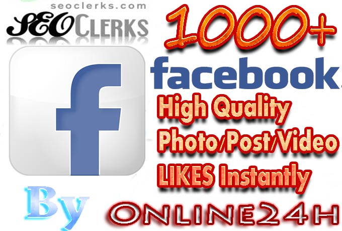 Increase Fast 1000+ Real Facebook Photo,Post,Video hits