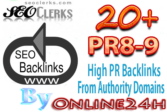 20+ PR8-9  Backlinks From Authority Domains only