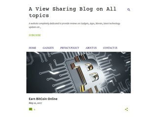A view sharing blog on all topics Sponsored Blog Review