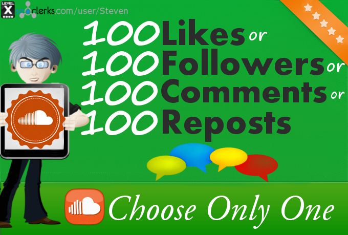 100 SoundCloud Likes or Reposts or Comments or Followers