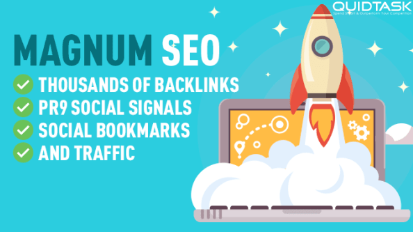 Magnum SEO - 1000 Backlinks - 1500 Signals - Video Creation - UNLIMITED Traffic - Bookmarks with 50 SHOUTOUTS TO 1 MILLION people on Social Media included - Video Submission - 26,298+ ORDERS