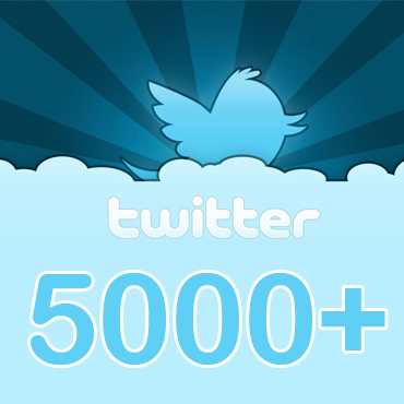 5000 Twitter Followers to your profile