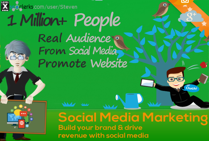 Do website Social Campaign to 1 Million Social Followers to boost your SERP, Visits and Traffic