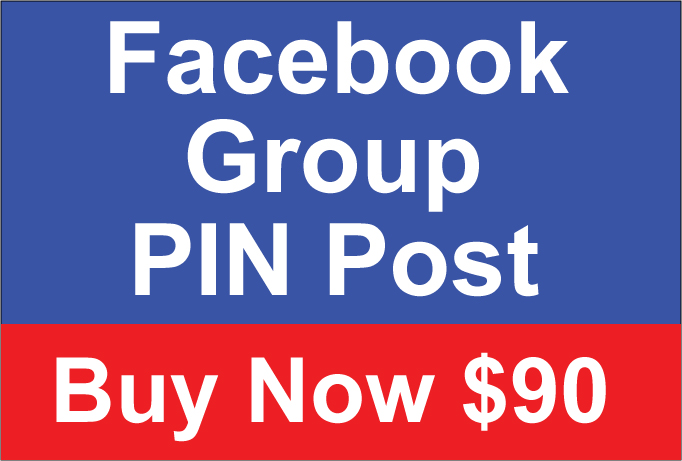 Facebook Group PIN Post 30 Days for $90