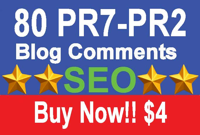 81 PR7 Dofollow Blog Comments for $5