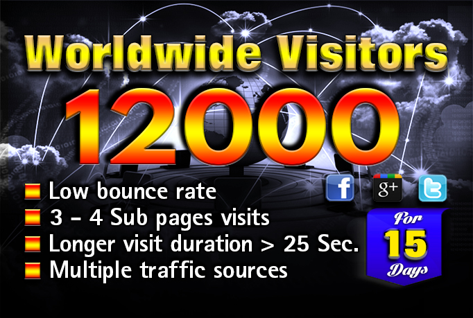 LOW BOUNCE MULTIPLE REFERRAL source website traffic 15 days