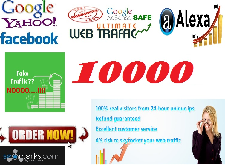 drive unlimited unique Real traffic visitors to your web... for $5