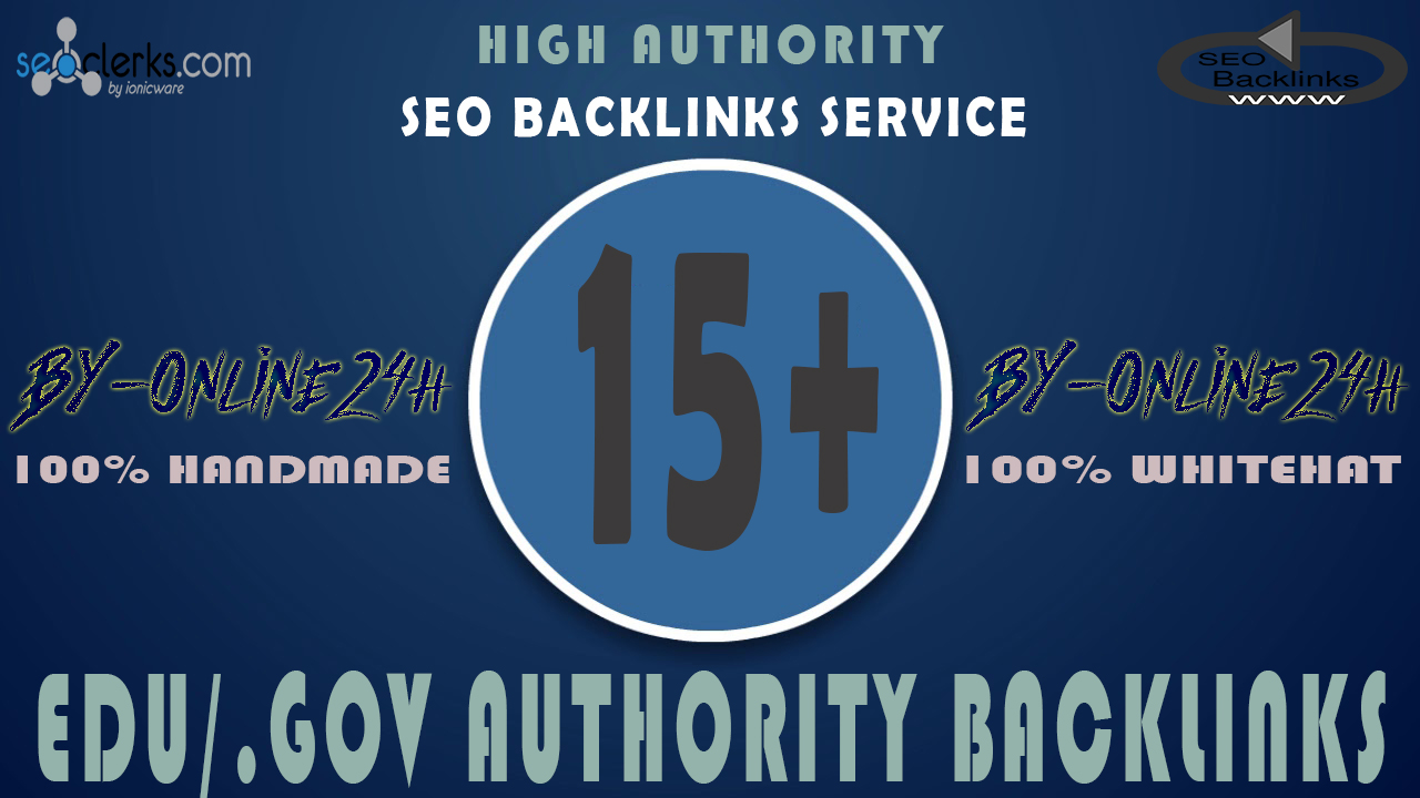 15+ .EDU/.GOV Backlinks From Authority Domains only