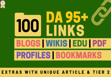 100+ High DA 95+ HQ Links to RANK your website by boosting your web authority