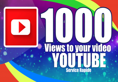 Provide 1000+ Quality video Youtube Ve use and 10 Liqes to your video