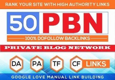 Build 50 HomePage PBN Backlinks All Dofollow High Quality Backlinks