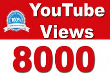 Give 8000+ FAST HQ Youtube Vuse In less then 24 - 48 Hours