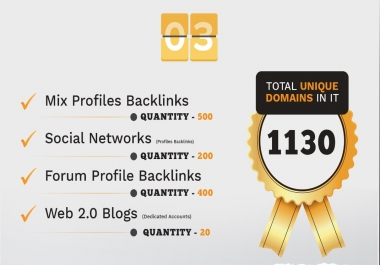 We Provide 3680 Backlink from Wiki, Web2, Forum Profile, Blog