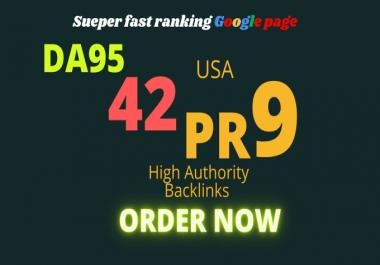 I will build 42 USA high DA 95-80 USA English SEO backlinks for rank booster