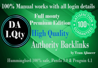 The full monty Premium Edition (high DA sites list) Full link wheel campaign, including
