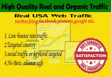 10000 Human USA Targeted traffic to your web or blog site. Get Adsense safe and get Good Alexa rank