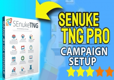 SEnuke TNG Full Monty for your url and keywords