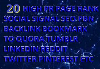 20 HIGH DA TA PR PAGE RANK SOCIAL SIGNAL SEO PBN GUEST POST BACKLINK BOOKMARK QUORA TWITTER LINKEDIN