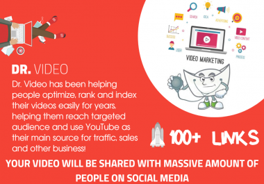 Youtube SEO - 750 Mixed Type Of Links - Fast indexing -Video Embeds, Social Signals, Backlinks