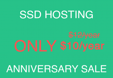 UNLIMITED SSD Web Hosting for 1 Year