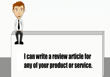 I will write review promoting site or service