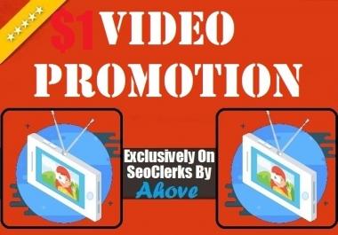 Offer1 Get Instant Social Media Video Promotion