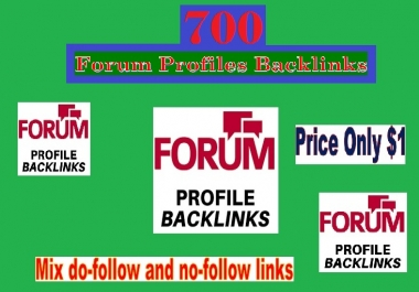 Manage 700+ High Quality Forum profiles backlinks for Your Site
