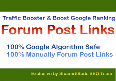 Traffic Booster 30 Forum Post Links to Boost Google Ranking