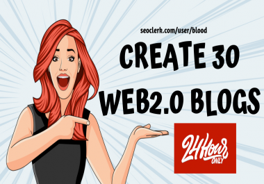Create 30 Web2 Contextual Links From High DA Sites Manually