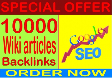 Top SEO Service - Boost Site Alexa Rank with 10000 Wiki Articles backlinks