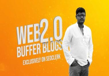 Handmade 10 Web 2.0 Buffer Blogs With Login