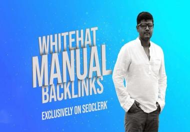 50 Manual Whitehat Authority Backlinks For Google Ranking
