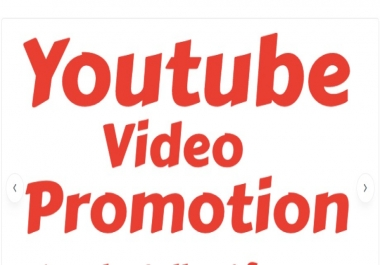 REAL YOUTUBE VIDEO PROMOTION FOR