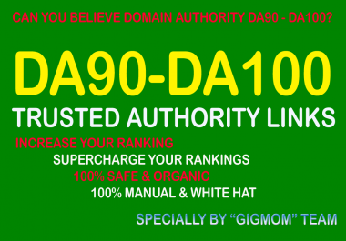 Trusted 40 DA90-100 Authority Links to Boost Google Search Results