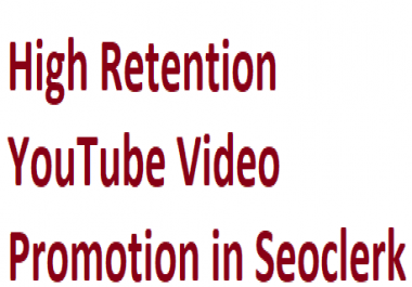 Non Drop Good Quality YouTube Video Promotion