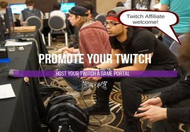 Host your Twitch TV on a Game portal