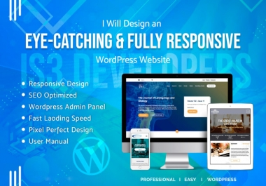I will develop a beautiful custom real estate website in WordPress and lending pages