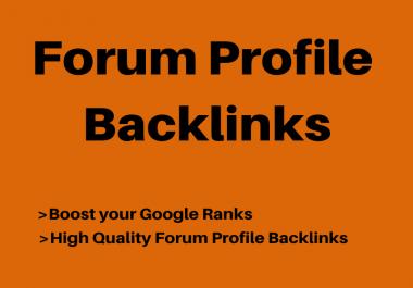 250 High Quality Forum Profile Back-links Boost Website Ranks