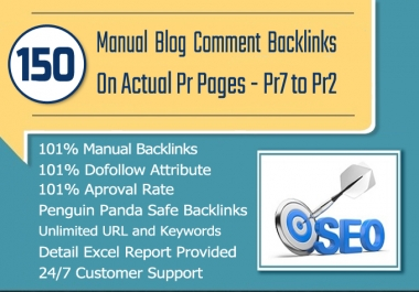 150 MANUAL Dofollow Blog comments Backlinks on High DA Sites