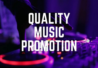 1 Dollar Basic manual Music promotion with best quality