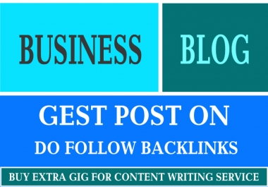 I'm providing a High-Quality Back-link on My High DA Business Blog