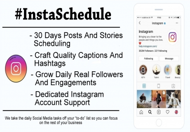 Schedule Instagram Posts Stories And Grow Your Social Media Marketing Management Promotion Manually