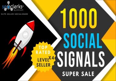 1000 PR10 Social Network Signals / Bookmarks / Backlinks / Help To Website Traffic Google Rank