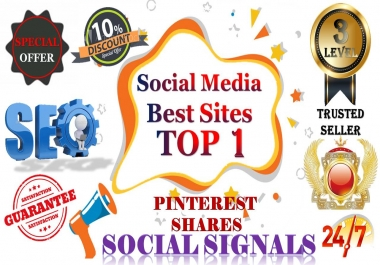 Gig Offer 15,000 pinterest USA,UK,UAE,share Real SEO Social Signals with split also available