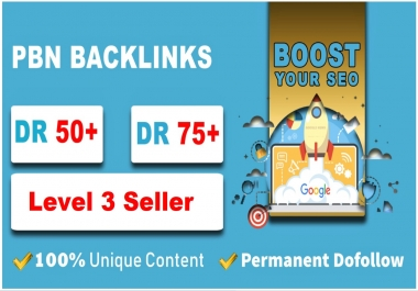 Provide you 50 PBN links from DR 50+ sites