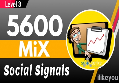 5600 Mixed PR10 Social Signals Backlinks / Bookmarks - Help to Google Ranking Website Traffic