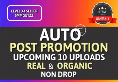 Get Real Automatic Social Post Promotion for Upcoming content with High Quality