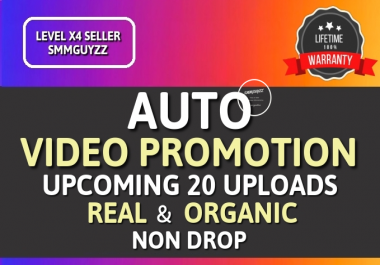 Get Real Automatic Social Video Promotion for Upcoming content