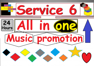 service 6 music promoting all in one within 24 hours