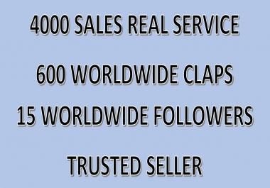 Get you 600 Worldwide Medium claps